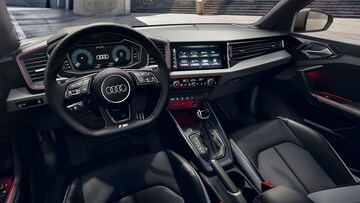The interior is driver-focused with a revolutionary operating concept and firmly immersed in the digital world.